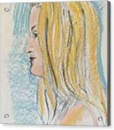 Blonde With Long Hair Acrylic Print