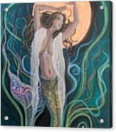 Blood Moon Goddess  Acrylic Print