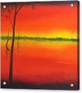 Blood Orange Sunset Acrylic Print