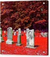 Blood Red Acrylic Print