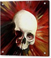 Blood Skull Acrylic Print