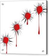 Blooded Bullet Holes Acrylic Print