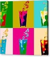 Bloody Mary Pop Art Panels Acrylic Print