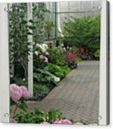 Blooming Conservatory Acrylic Print