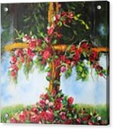 Blooming Cross Acrylic Print