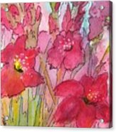 Blooming Glads Acrylic Print