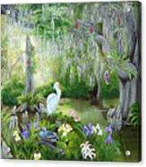 Blooming Swamp Acrylic Print by Darlene Green