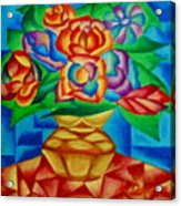 Blooms In Blue Acrylic Print