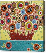 Blooms In Pot Acrylic Print
