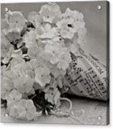 Blossom And The Bee Cornucopia  Acrylic Print