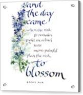 Blossom I Acrylic Print