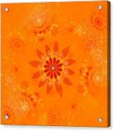 Blossom In Orange Acrylic Print