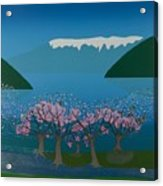 Blossom In The Hardanger Fjord Acrylic Print