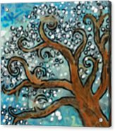 Blossom Tree - Miniature Art Acrylic Print