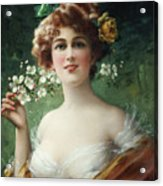 Blossoming Beauty Acrylic Print by Emile Vernon