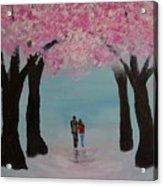 Blossoming Romance Acrylic Print
