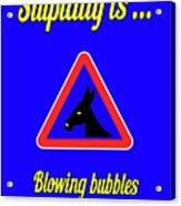 Blowing Bigstock Donkey 171252860 Acrylic Print