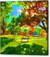 Blowing Rock Park Acrylic Print