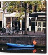 Blu Boat Acrylic Print
