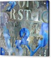 Blu Acrylic Print
