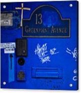 Blue 13 Acrylic Print