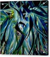 Blue Abstract Art Lorx Acrylic Print