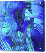 Blue Abstract Art - Reflections - Sharon Cummings Acrylic Print