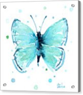 Blue Abstract Butterfly Acrylic Print