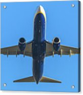 Blue Airplane Takeing Off Acrylic Print