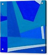 Blue Alert Detail 1 Acrylic Print