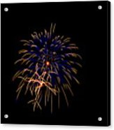 Blue And Gold Fireworks Acrylic Print