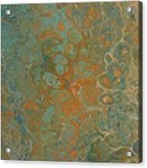 Blue And Orange Acrylic Print