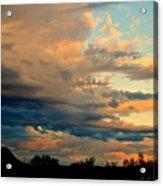 Blue And Orange Sunset Acrylic Print