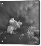 Blue And Pink Clouds In Black And White  Acrylic Print