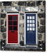 Blue And Red Doors Acrylic Print
