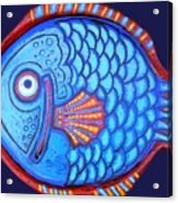 Blue And Red Fish Acrylic Print