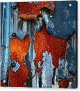 Blue And Rust Acrylic Print