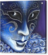 Blue And Sliver Carnival Flair  Acrylic Print