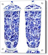 Blue And White Chinoiserie Vases Acrylic Print