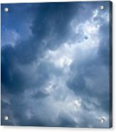 Blue And White Cloud Formations Acrylic Print