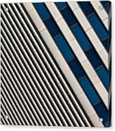 Blue And White Diagonals Acrylic Print