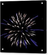 Blue And White Fireworks Acrylic Print