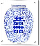 Blue And White Ginger Jar Chinoiserie 8 Acrylic Print