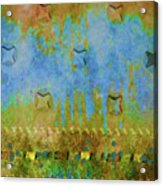 Blue And Yellow Abstract Acrylic Print