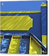 Blue And Yellow Shadows Acrylic Print