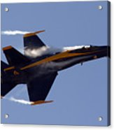 Blue Angel 4 Pulling A Vapor Trail Into The Empty Air... Acrylic Print
