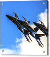 Blue Angel Fly By Acrylic Print