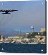 Blue Angels C130 Fat Albert Passes Alcatraz Acrylic Print