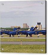 Blue Angels Flight Line Acrylic Print