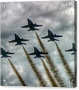 Blue Angels In Formation Acrylic Print